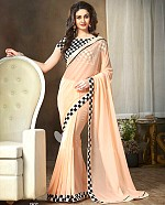 Georgette Embroidered Saree with Banglori Slik Blouse@ Rs.775.00