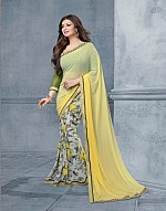 Lady Fashion Villa yellow designer sarees@ Rs.813.00