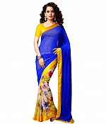 Bollywood Kangana Ranout Multicolor printed saree@ Rs.566.00