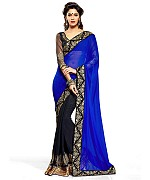 Women Blue color Georgette saree@ Rs.526.00