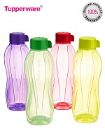 Tupperware Aquasafe Water Bottle, 1 Litre, Set of 4 Bottles@ Rs.649.00