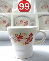 High Quality Bone China Tea Cups and Coffee Mug- Set of 6psc