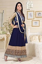Beautiful Blue Georgette Anarkali Suit