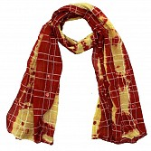 Viscose Printed Red Scarf