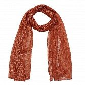 Raschel Printed Orange Scarf