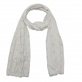 Viscose Printed White Scarf