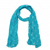 Viscose Printed Sky Blue Scarf