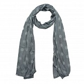 Viscose Printed Grey Scarf