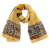 Polyster Printed Yellow Scarf