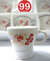 High Quality Light Wgt Bone China Tea Cups Coffee Mug- Set of 6psc