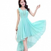 Vandvshop New Sky Blue Georgette Designer Western Dress