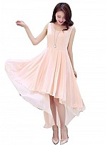Vandvshop New Peach Georgette Designer Western Dress