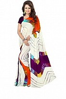 New Printed Multi Color Heavy Nazneen Casual Saree