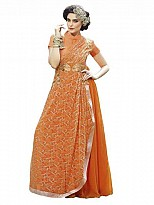 New Fancy Gown Orange Colour