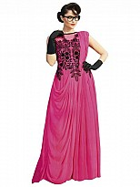 Pink Designer Embroidered Gown