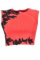 Orange Beautiful Embroidered Designer Unstitched Blouse