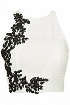 VANDVLatest White Beautiful Embroidered Designer Unstitched Blouse