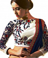 Latest White Beautiful Embroidered Designer Unstitched Blouse