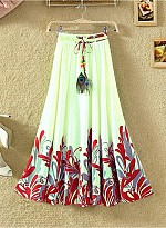 new latest White & Red designer printed skirts