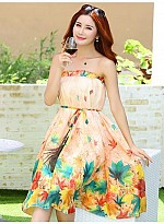 Latest Peach Colour Digital Printed Women's Fancy Skirt