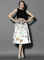Butterfly Printed Fancy Women Skirt
