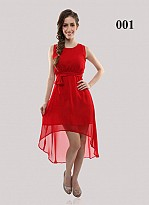 Buy Red Georgette Casual Semi-stitched Kurti