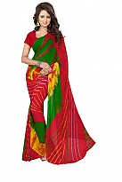 New Printed Red Heavy Nazneen Casual Saree