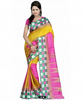 MULTY PRINTED BHAGALPURI SAREE