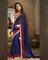 Georgette Embroidered Saree with Banglori Slik Blouse