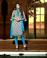 Embroidery Bhagalpuri Silk Salwar Suit with Dupatta