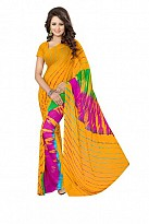 New Printed Yellow Heavy Nazneen Casual Saree