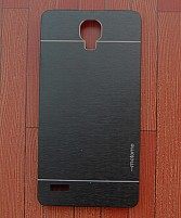 Xiaomi Redmi Note Motomo Brushed Metal Back Cover- Black