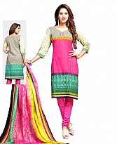 Printed Cotton Salwar Suit with Dupatta