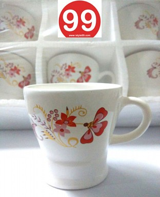 High Quality Bone China Tea Cups and Coffee Mug- Set of 6psc @ Rs330.00