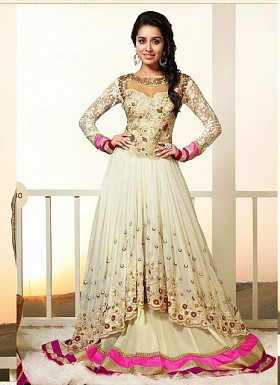 New Exclusive Heavy Designer White Gorgeous Anarkali Suits@ Rs.1482.00