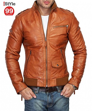 Slim Fit Leather Jacket @ Rs6690.00