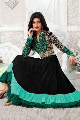 Gorgeous Green Salwaar Kameez@ Rs.1484.00