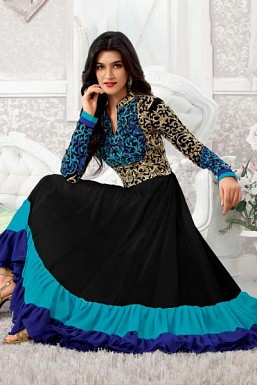 Beautiful Blue georgette Salwar Kameez@ Rs.1484.00