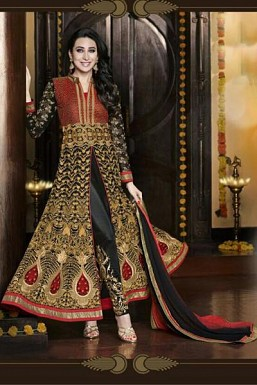 Black Semi-Stitched Georgette Party Wear Salwar Suit @ Rs4265.00