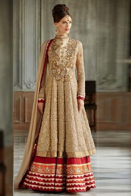 Eye Catching Beige colored Salwar Kameez@ Rs.1904.00