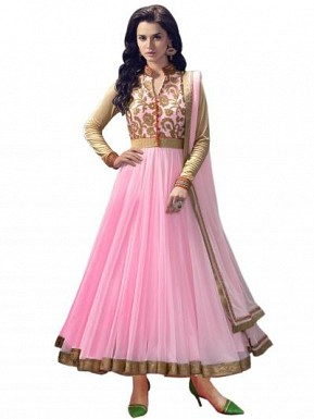 Light pink Semi Stitched Party Wear Salwar Suit @ Rs520.00