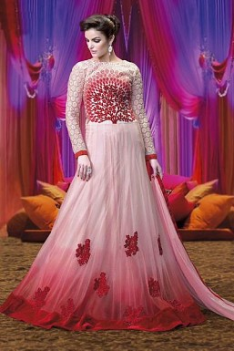Stunning Pink Georgette Semi-stitched @ Rs2967.00