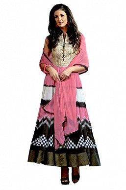 Stunning Multicolor Georgette Semi-stitched salwar suit @ Rs3336.00
