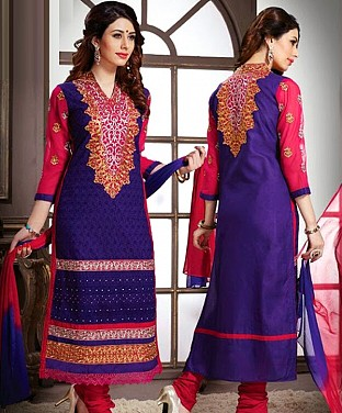 Cotton Embroidery Straight Suit With Duppta@ Rs.647.00
