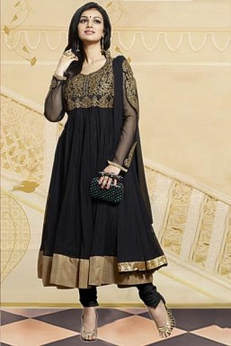 Beautiful Black Georgette Anarkali Suit @ Rs804.00