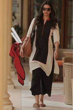 Stunnning Black & White Cotton Salwar Suit @ Rs1669.00