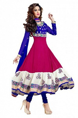 MultiColor Georgette Semi-Stitched Salwar Suit @ Rs804.00