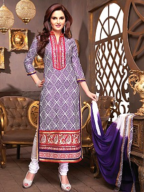 Cotton Salwar Suit with Dupatta Buy Rs.1029.00