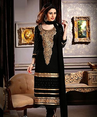 Cotton Embroidery Straight Suit With Duppta@ Rs.1144.00
