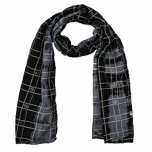 Viscose Printed Black Scarf@ Rs.217.00